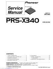 pioneer prs x340 manuals pioneer prs x340 service manual