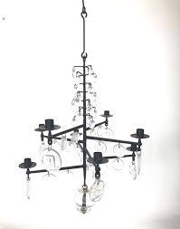erik hoglund kosta boda crystal 1960s swedish chandelier candelabra in excellent condition for in