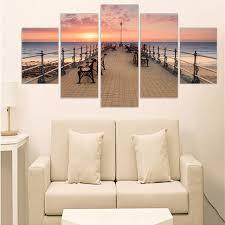 <b>Direct Selling</b> Unframed <b>Painting</b> Sunset Seacape Print On <b>Canvas</b> ...