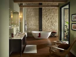 impressive bathroom design ideas using stone and travertine stone bathroom designs corner bathtub in white color