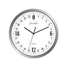 newest 24 hour dial design 12 inches metal frame modern fashion decorative round wall clock large office wall clocks large outdoor clocks for walls from