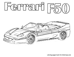 Ferrari Car Coloring Pages, Pictures Of Ferrari Sports Cars ...