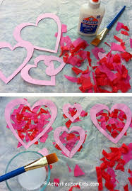 heart suncatcher craft for valentine s day printable heart template at kidswebs com