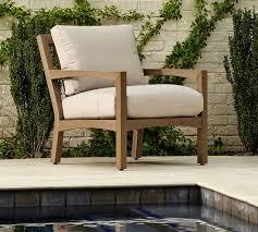 tropez faux teak lounge chair dune