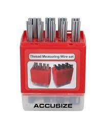 Details About Accusize Industrial Tools U S And Metric Thread Measuring Wire Sets Eg06 1002