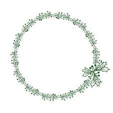 quadro redondo verde das folhas
