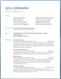Resume Format Template For Word Functional Format Resume Template