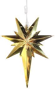 Star 711 00 Bethlehem Stern Aus Messing Mit Soquet E14 Gold 35 X 25 Cm