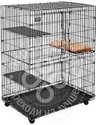 Купить <b>Клетка</b> для кошек <b>Midwest Cat</b> Cage 91.5*60*128см с ...