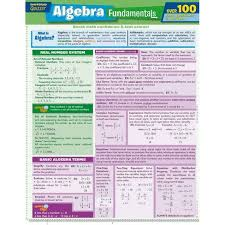 Algebra Fundamentals - (Quick Study: Quizzer) By Peggy Warren (Wall_chart)  : Target