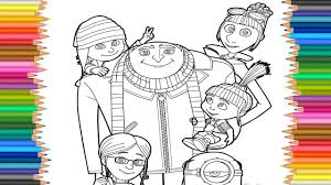 Despicable Me 3 Coloring Page L Coloring Markers Videos For