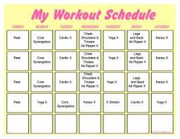 Hip Hop Abs Workout Chart P90x Lean Schedule Print A Workout Calendar