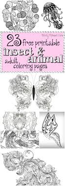 Small Picture 23 Free Printable Insect Animal Adult Coloring Pages Adult