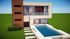 Modernes Haus Minecraft Motorscooterwallpaperga