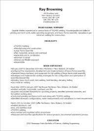 Welder Resume Template Professional Welder Resume Templates To Showcase  Your Talent Ideas