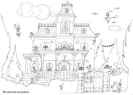Dessin Halloween Facile Good Coloriage Citrouilles With Dessin Dessin A Colorier Dune Maison Hantee Pour Halloween L