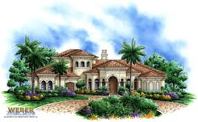 the ixora iii is a unique two story mediterranean house plan with a beautiful grand entry the foyer opens up to a formal living room with a wall of picture