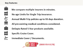with just travel cover you can generate a quote on line or call them if you want a personalised service