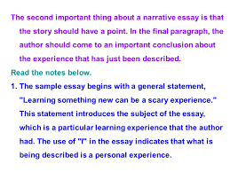 english writing session the macau new chinese youth the second important thing about a narrative essay is that the story should have a point