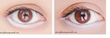 step 2 now grab a black waterproof eye pencil and make a nice thick line on your lower waterline since you want your eyes to look bigger