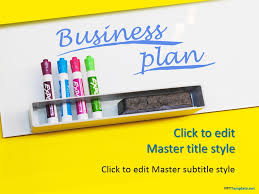 Free Business Templates For Powerpoint Free Business Plan Yellow Ppt Template