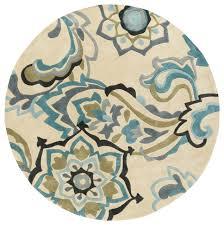 surya cosmopolitan cos9209 blue green fl and paisley area rug contemporary area rugs by rugmethod