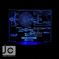 Star Trek Bathroom Accessories Star Trek Uss Enterprise Ncc 1701 Blueprint Design Laser