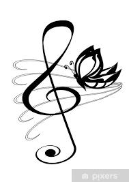 Fototapeta Vinylová Chiave Violino Tetování