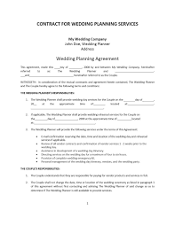 Free Wedding Planner Contract Templates Free Wedding Planner Contract Form 2232