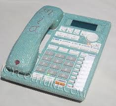 tiffany blue office. Tiffany Blue Crystal Bling Home Office Desk Phone U