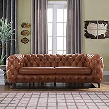 chesterfield furniture history. Amazon Com Modern Real Leather Tufted Chesterfield Sofa Couch In For Plan 3 Furniture History H