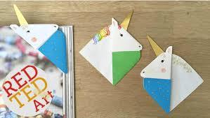 unicorn corner bookmark by red ted art whimsical diy unicorn ideas