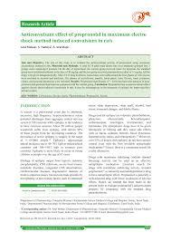 Pdf Anticonvulsant Effect Of Propronolol In Maximum Electro