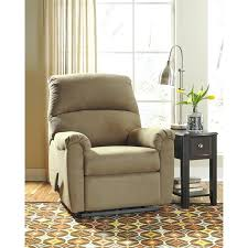 wall hugger recliner chair signature design by in co fabric hug leather chairs dual motor riser