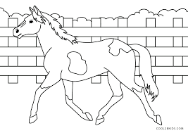 free printable horse coloring pages for