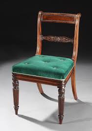 unique set of 20 regency period dining chairs with green velvet upholstery at 1stdibs regency