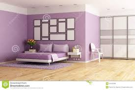 Purple Modern Bedroom Purple Modern Bedroom Royalty Free Stock Images Image 34156289