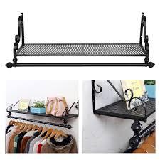 wall mounted clothes rail. OGORI Heavy Duty Metal Clothes Rail Wall Mounted Garment Hanging Rack \u0026 Shelf: Amazon.co.uk: Kitchen Home P