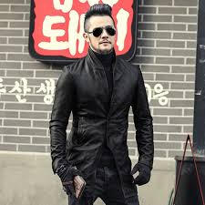 men autumn genuine leather jacket fashion solid sheep skin european style coat men motorcycle bikers leather