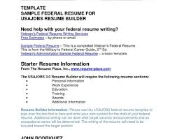 Federal Resume Template Sampleal Resume For Social Worker Program Support Assistant 65