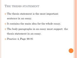 eng writing chapter from paragraph to essay ppt video  10 the thesis statement