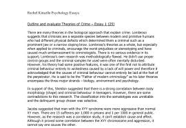 theories of crime in psychology a level psychology marked by  document image preview