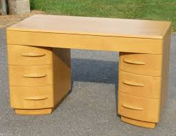 heywood wakefield kneehole desk m315w wheat no reserve