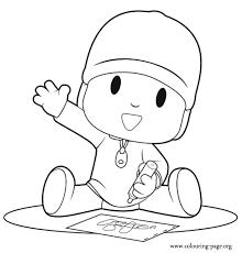 Pocoyo Pocoyo Drawing Coloring Page