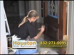 refinishing front doorHouston Door Refinishing refinish wood front door  YouTube