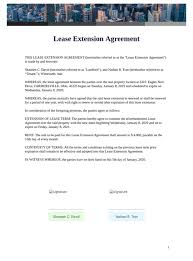 If you have plenty of farm property then can use this sample land lease agreement template for leasing agreements. Lease Extension Agreement Pdf Templates Jotform