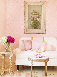 Shabby Chic Living Rooms 30 Elegant And Chic Living Rooms With Damask Wallpaper Rilane