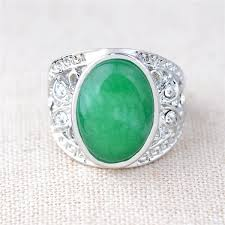 Antique <b>Natural Chalcedony Agate</b> Jade 925 <b>Sterling Silver</b> ...