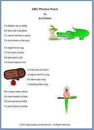 There are differences in opinion about whether using phonics is useful in teaching children to read. Our Abc Phonics Poem Is A Fun Way To Practice The Alphabet