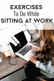 exercises while sitting down in a chair